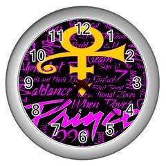 Prince Poster Wall Clocks (silver)