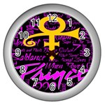 Prince Poster Wall Clocks (Silver)  Front