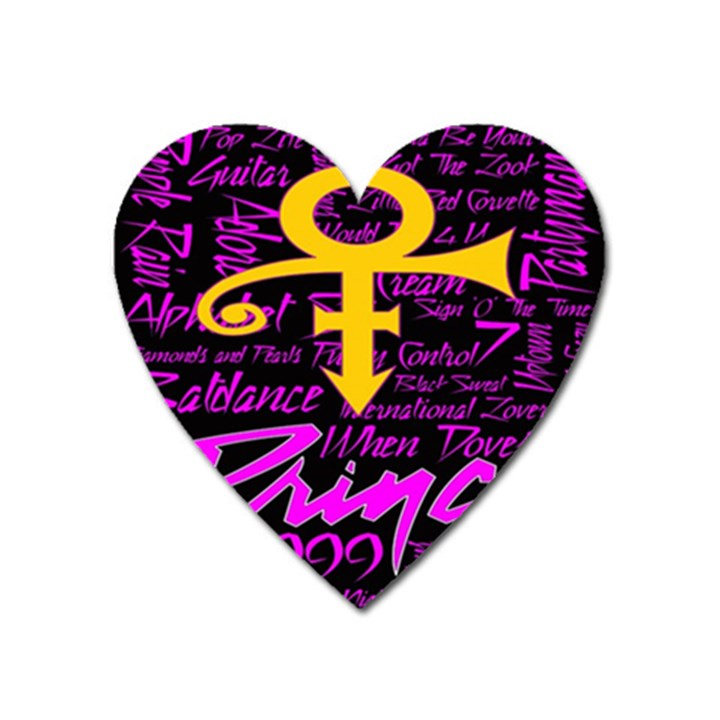 Prince Poster Heart Magnet