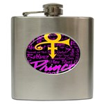Prince Poster Hip Flask (6 oz) Front