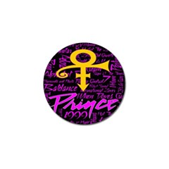Prince Poster Golf Ball Marker