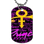 Prince Poster Dog Tag (Two Sides) Back