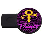 Prince Poster USB Flash Drive Round (2 GB)  Front