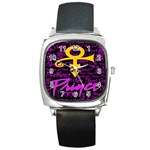 Prince Poster Square Metal Watch Front
