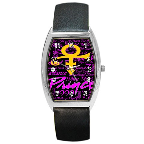 Prince Poster Barrel Style Metal Watch