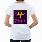 Prince Poster Women s Loose-Fit T-Shirt (White) Back