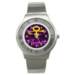 Prince Poster Stainless Steel Watch Front