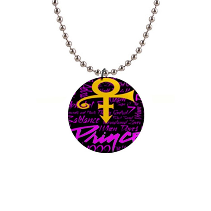 Prince Poster Button Necklaces