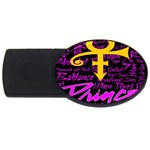Prince Poster USB Flash Drive Oval (4 GB)  Front