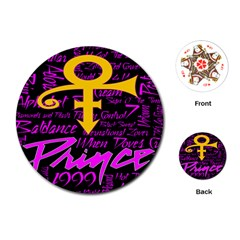 Prince Poster Playing Cards (round)