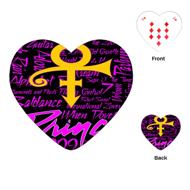Prince Poster Playing Cards (Heart)