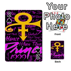Prince Poster Playing Cards 54 Designs