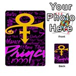 Prince Poster Playing Cards 54 Designs  Back