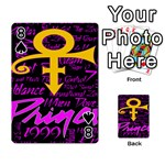 Prince Poster Playing Cards 54 Designs  Front - Spade8