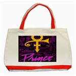 Prince Poster Classic Tote Bag (Red) Front