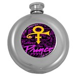 Prince Poster Round Hip Flask (5 oz) Front