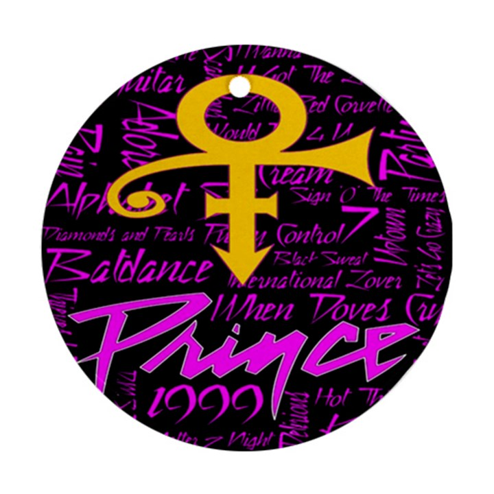 Prince Poster Round Ornament (Two Sides)