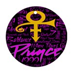 Prince Poster Round Ornament (Two Sides)  Back