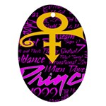 Prince Poster Oval Ornament (Two Sides) Back