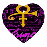 Prince Poster Heart Ornament (2 Sides) Front