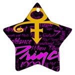 Prince Poster Star Ornament (Two Sides)  Back