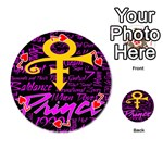 Prince Poster Playing Cards 54 (Round)  Front - Heart7