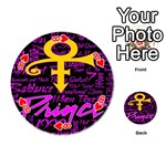 Prince Poster Playing Cards 54 (Round)  Front - Heart8