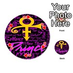 Prince Poster Playing Cards 54 (Round)  Front - Heart9