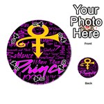 Prince Poster Playing Cards 54 (Round)  Front - Club8