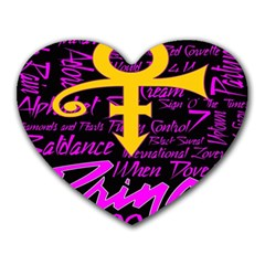 Prince Poster Heart Mousepads
