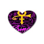 Prince Poster Rubber Coaster (Heart)  Front