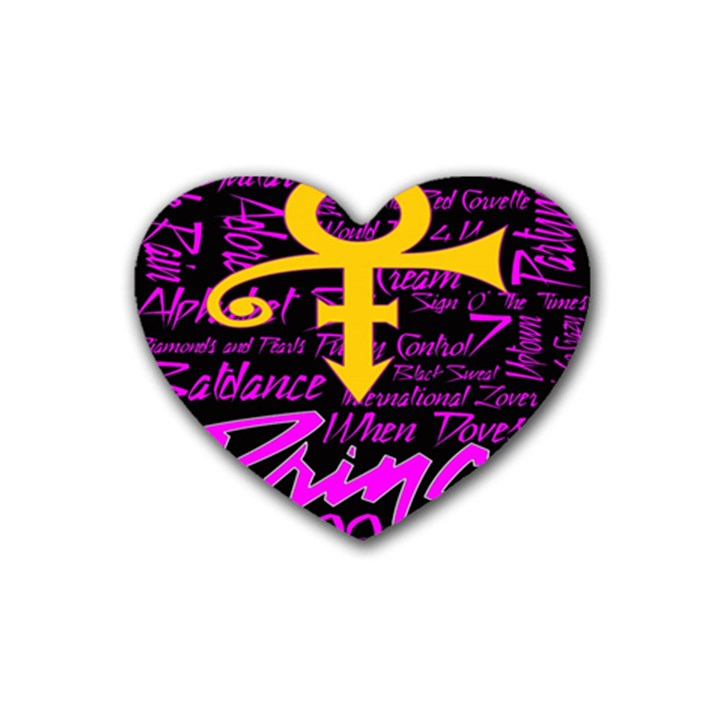 Prince Poster Heart Coaster (4 pack)