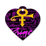 Prince Poster Dog Tag Heart (Two Sides) Back