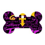 Prince Poster Dog Tag Bone (Two Sides) Front