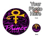Prince Poster Multi-purpose Cards (Round)  Back 1
