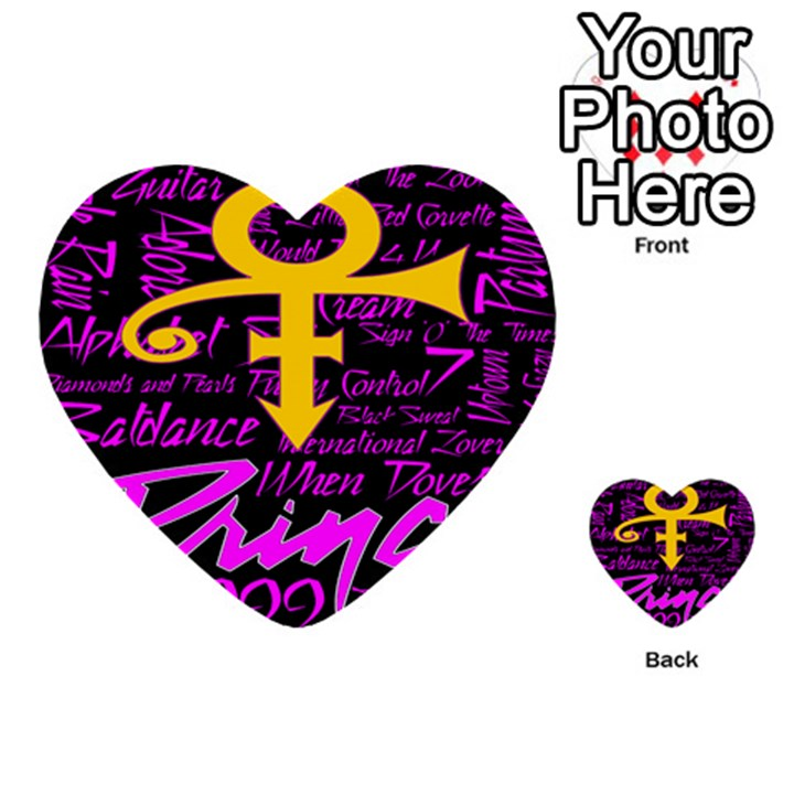 Prince Poster Multi-purpose Cards (Heart)