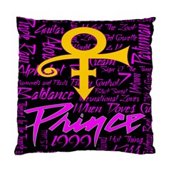 Prince Poster Standard Cushion Case (two Sides)