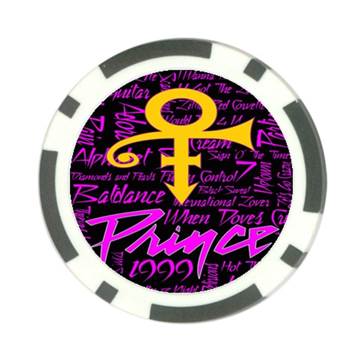 Prince Poster Poker Chip Card Guards (10 pack)