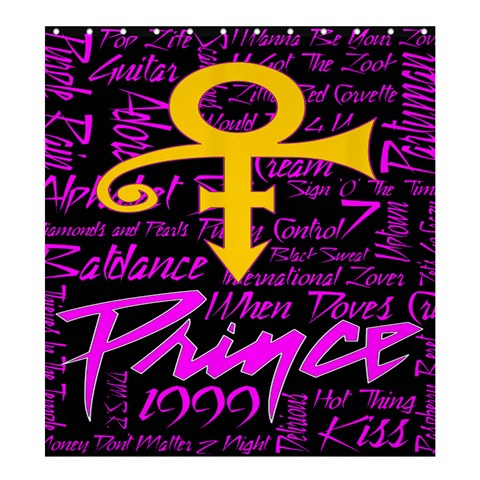 Prince Poster Shower Curtain 66  x 72  (Large)