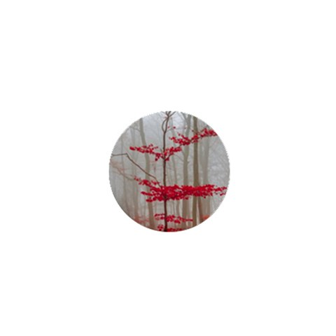 Magic forest in red and white 1  Mini Buttons