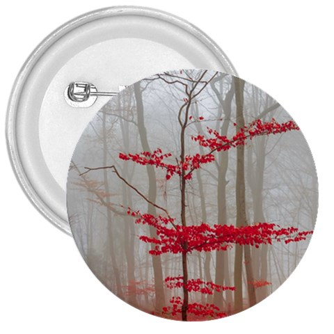 Magic forest in red and white 3  Buttons