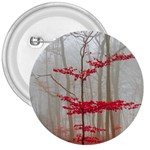 Magic forest in red and white 3  Buttons Front