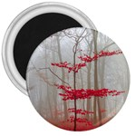 Magic forest in red and white 3  Magnets Front