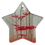 Magic forest in red and white Ornament (Star)  Front