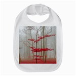 Magic forest in red and white Bib Front