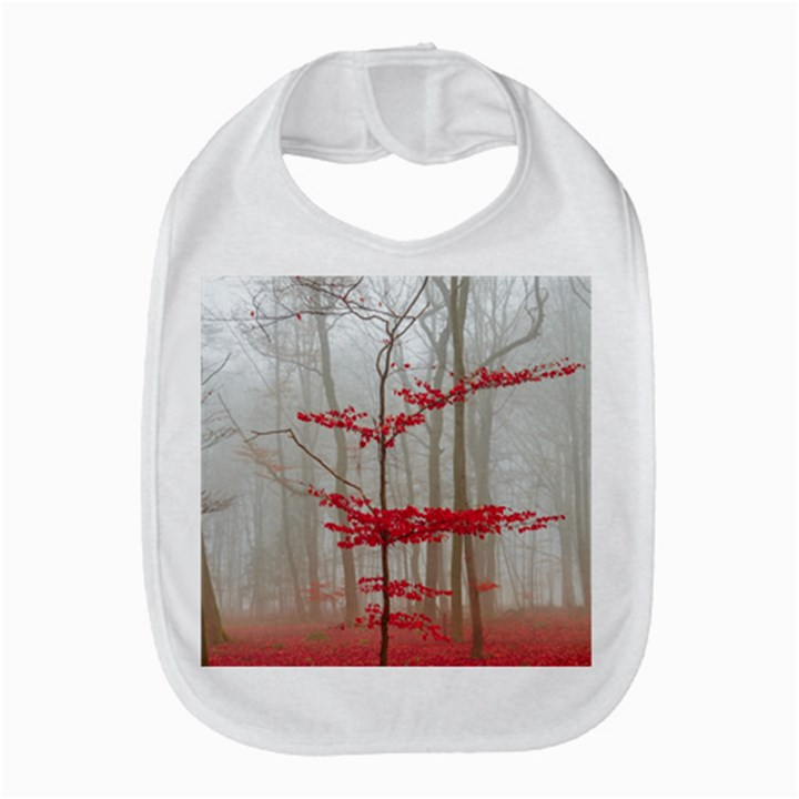 Magic forest in red and white Bib
