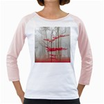 Magic forest in red and white Girly Raglans Front