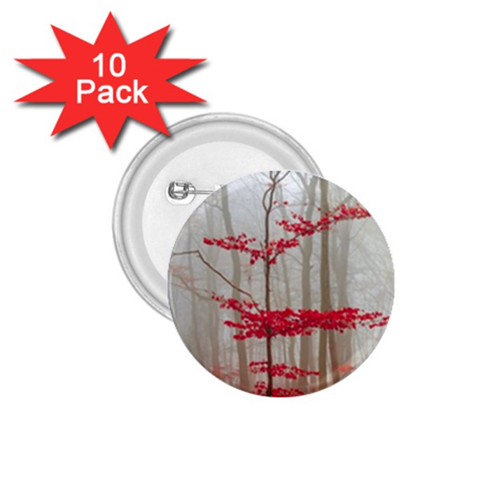 Magic forest in red and white 1.75  Buttons (10 pack)