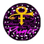 Prince Poster Round Filigree Ornament (2Side) Back