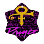 Prince Poster Snowflake Ornament (2-Side) Back